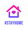 stay home heart home sticker symbol vector image vector image