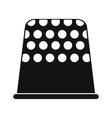 Thimble black simple icon vector image vector image
