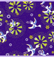 vintage bird pattern vector image vector image