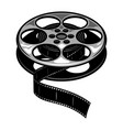 vintage film reel concept vector image