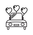 wedding car line icon sign vector image vector image