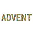 word advent decorative zentangle object vector image