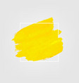 yellow banner with paint vector image vector image