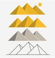 egypt pyramids giza landscape outline vector image