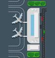 airport top view landing pad vector image