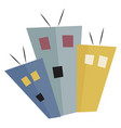 a group buildings or color vector image