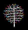 abstract colorful tree for your design vector image vector image