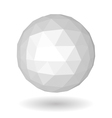 Abstract white low polygonal sphere vector image