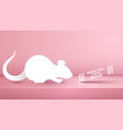 animal rat mouse on the pink studio vector image