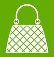 beautiful bag icon green vector image vector image