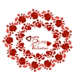 Beautiful red roseBe my Valentine vector image
