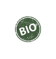 bio stamp texture rubber cliche imprint web or vector image vector image