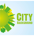 buildings on world background green vector image vector image