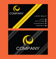 business card on dark background 0006 vector image vector image