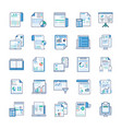 business reports statical analysis flat icons vector image vector image