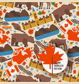 canadian symbols and main landmarks vector image vector image