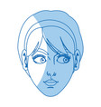 character female face beauty short hair image vector image vector image