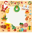 Christmas banner design greeting card vector image