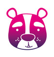 color silhouette smile bear head wild animal vector image vector image