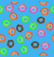 colorful fresh sweet donuts seamless pattern vector image vector image