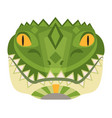 crocodile head logo alligator decorative vector image vector image