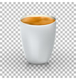 cup coffee front view realistic 3d vector image vector image