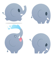 CuteCartoonElephant vector image vector image