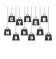 cyber monday commerce icon vector image