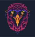 eagle head eyeglasses vector image