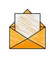 envelope with letter design vector image vector image