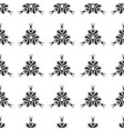 ethnic seamless black pattern on white background vector image