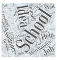fashion merchandising schools Word Cloud Concept vector image vector image