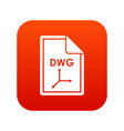 file dwg icon digital red vector image vector image