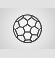 football ball icon sign symbol vector image vector image