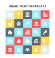 homerentmortagage icons vector image