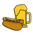 hot dog and beer food unhealthy vector image vector image