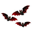 isolated bat halloween design vector image vector image