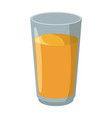 juice in glass cup vector image vector image