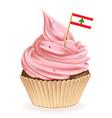Lebanese Cupcake vector image vector image