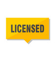 licensed price tag vector image vector image
