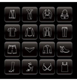 line clothing and dress icons vector image vector image