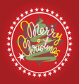 Merry christmas print vector image vector image
