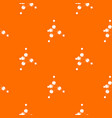 methanol pattern orange vector image vector image