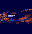 modern colored poster for sports vector image vector image
