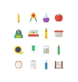 Modern flat icon collection on vector image vector image