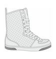 modern stylish sneakers vector image vector image