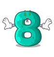 money eye number eight volume logo the mascot vector image