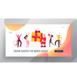 new year party celebration website landing page vector image vector image