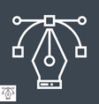 pen tool icon vector image vector image
