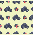 photo camera isometric seamless pattern vector image